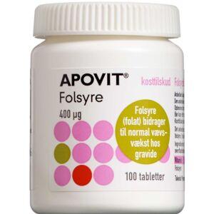 Køb Apovit Folsyre 400 mikg 100 stk. online hos apotekeren.dk