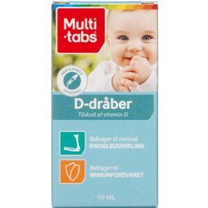 Køb Multi-tabs D-vitamin dråber 10 ml online hos apotekeren.dk