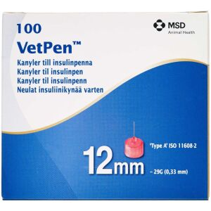 Køb VetPen kanyler 12 mm 100 stk. online hos apotekeren.dk