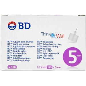 Køb BD Penkanyle 0,25 x 5 mm (31G) 100 stk. online hos apotekeren.dk