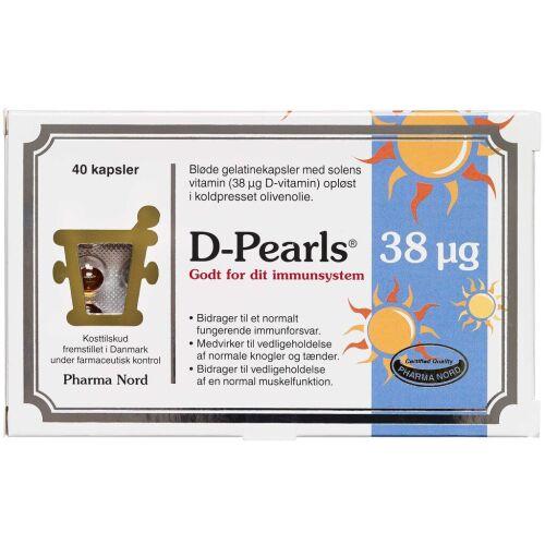 Køb D-Pearls 38 mikg kapsler 40 stk. online hos apotekeren.dk