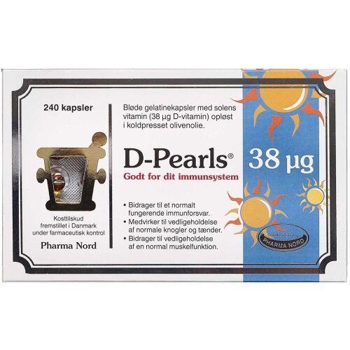 Køb D-Pearls 38 mikg kapsler 240 stk. online hos apotekeren.dk
