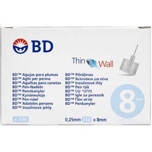 Køb BD Penkanyle 0,25 x 8 mm (31G) 100 stk. online hos apotekeren.dk