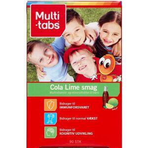Køb Multi-tabs Børnevitamin Cola/Lime tyggetabletter 90 stk. online hos apotekeren.dk