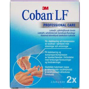 Køb Coban Elastisk Bind 2,5 cm x4,5 m brun 2 stk. online hos apotekeren.dk