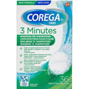 Køb Corega Tabs 3 Minutes 36 stk. online hos apotekeren.dk