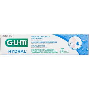 Køb GUM Hydral tandpasta 6020SEPI - til en følsom tør mund 75 ml tube online hos apotekeren.dk