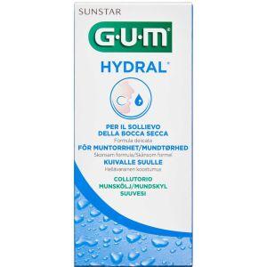 Køb GUM Hydral mundskyl mod mundtørhed 300 ml online hos apotekeren.dk