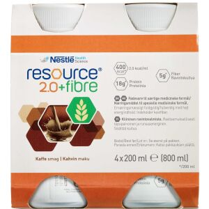 Køb Resource 2.0+ fibre Kaffe 4 x 200 ml online hos apotekeren.dk