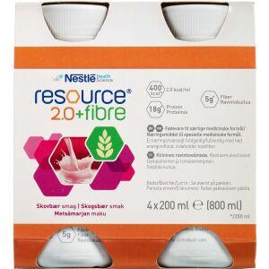 Køb Resource 2.0+ fibre Skovbær 4 x 200 ml online hos apotekeren.dk