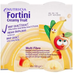 Køb Fortini Creamy Fruit Sommerfrugt 4 x 100 g online hos apotekeren.dk