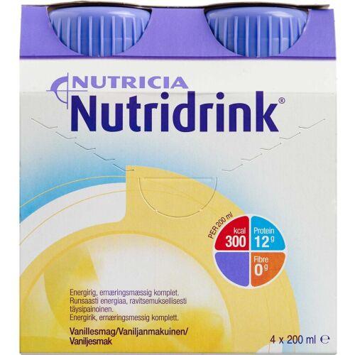Køb Nutridrink Vanille 4 x 200 ml online hos apotekeren.dk