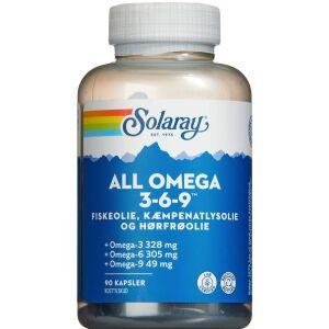 Køb Solaray All Omega 3-6-9 kapsler 90 stk. online hos apotekeren.dk