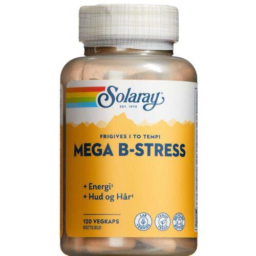 Køb Solaray Mega B-stress kapsler 120 stk. online hos apotekeren.dk