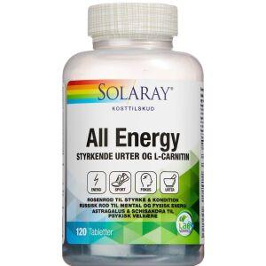 Køb Solaray All Energy tabletter 120 stk. online hos apotekeren.dk
