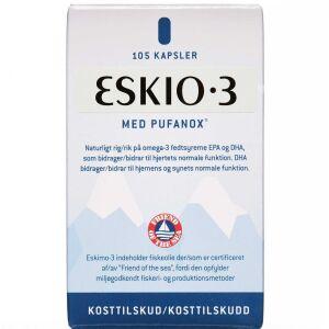 Køb Eskimo-3 med Vitamin E Kapsler 105 stk. online hos apotekeren.dk