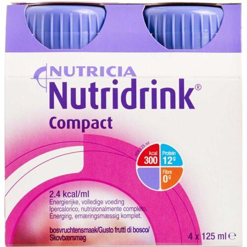 Køb Nutridrink Compact Skovbær 4 x 125 ml online hos apotekeren.dk