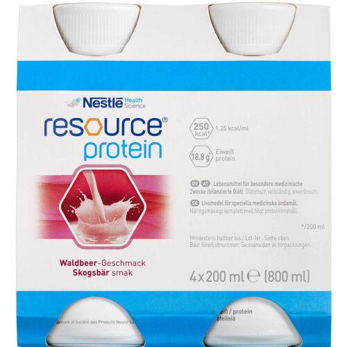 Køb Resource Protein Ernæringsdrik Skovbær 4 x 200 ml online hos apotekeren.dk