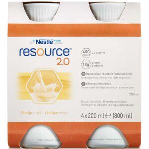 Køb Resource 2.0 Vanille 4 x 200 ml online hos apotekeren.dk