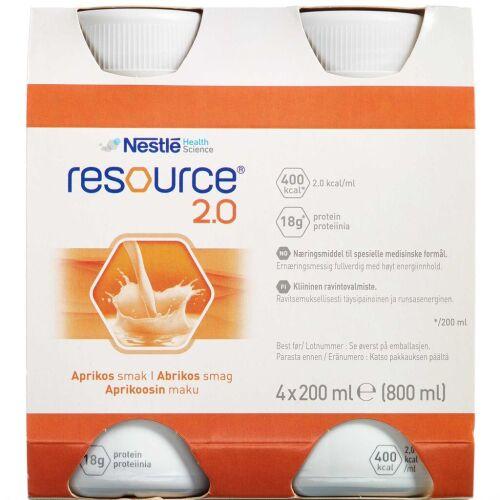 Køb Resource 2.0 Abrikos 4 x 200 ml online hos apotekeren.dk