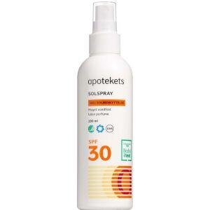 Køb Apotekets Sol Spray SF30 200 ml online hos apotekeren.dk