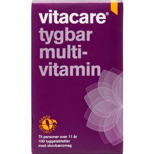 Køb Vitacare Tygbar Multi-vitamin 100 stk. online hos apotekeren.dk