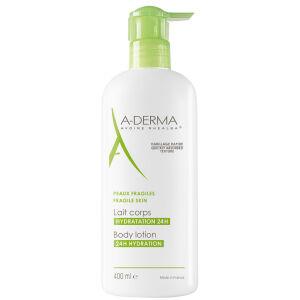 Køb A-Derma Moistrurising body lotion 400 ml online hos apotekeren.dk