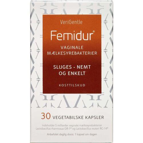Køb Femidur Oral kapsler vaginale mælkesyrebakterier 30 stk. online hos apotekeren.dk