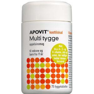 Køb Apovit Multi tyggetablet med appelsinsmag 75 stk. online hos apotekeren.dk