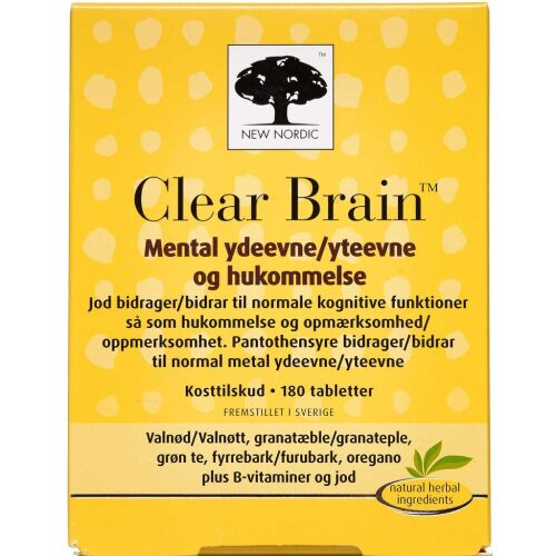 Køb Clear Brain tabletter 180 stk. online hos apotekeren.dk