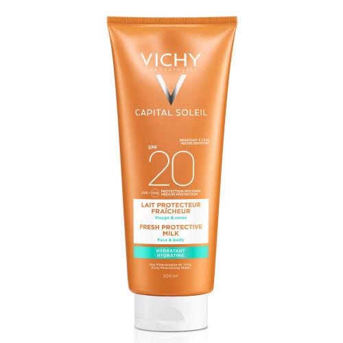 Køb Vichy Capital Soleil solcreme ansigt/krop SPF20 300 ml online hos apotekeren.dk