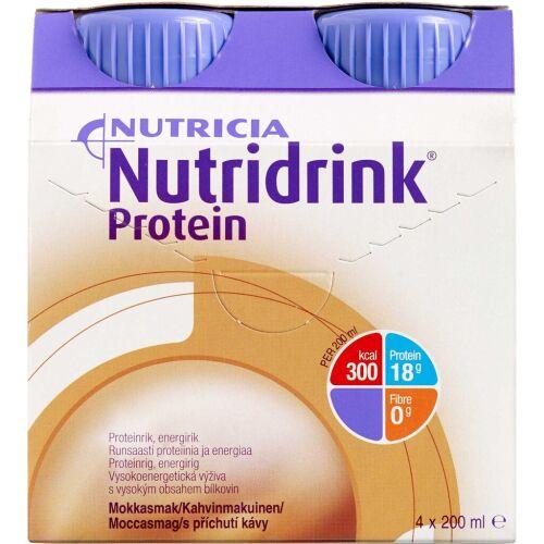 Køb Nutridrink Protein Mokka 4 x 200 ml online hos apotekeren.dk