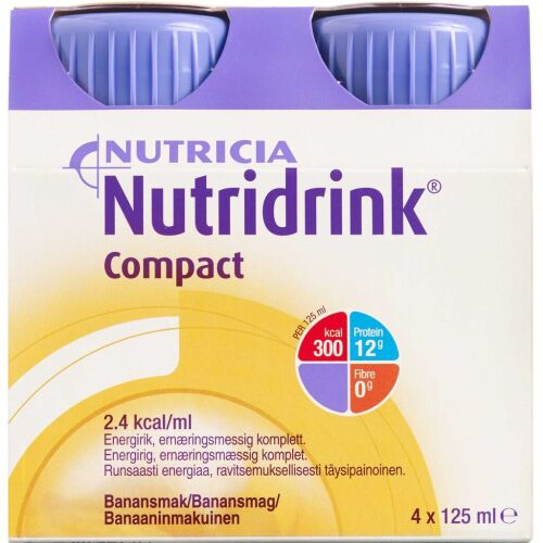 Køb Nutridrink Compact Banan 4 x 125 ml online hos apotekeren.dk