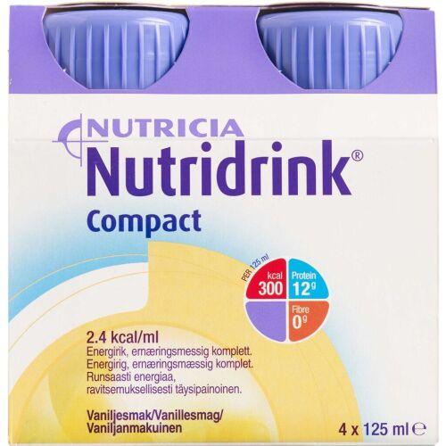 Køb Nutridrink Compact Vanille 4 x 125 ml online hos apotekeren.dk