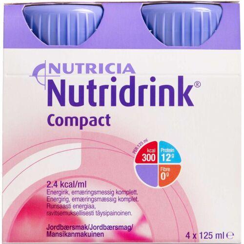 Køb Nutridrink Compact Jordbær 4 x 125 ml online hos apotekeren.dk