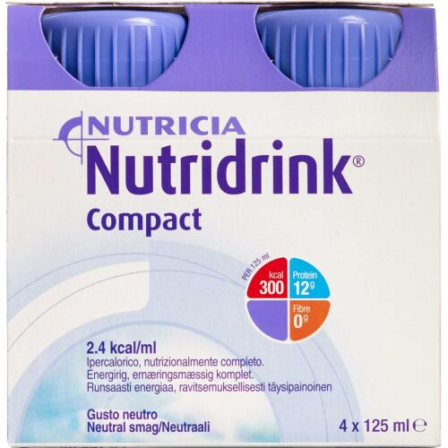 Køb Nutridrink Compact Neutral 4 x 125 ml online hos apotekeren.dk