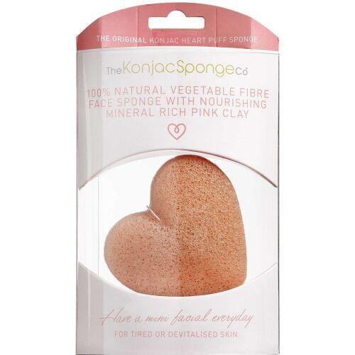 Køb Konjac Sponge Face pink hjerteformet 1 stk. online hos apotekeren.dk
