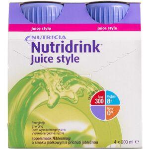 Køb Nutridrink Juice Style Æble 4 x 200 ml online hos apotekeren.dk