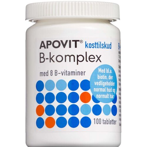 Køb Apovit B-Komplex kosttilskud tabletter 100 stk.  online hos apotekeren.dk