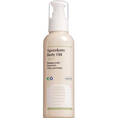 Køb Apotekets Body Oil uden parfume 150 ml online hos apotekeren.dk