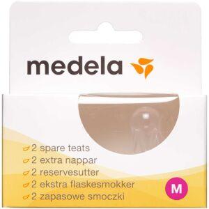 Køb Medela flaskesut Str. M 2 stk. online hos apotekeren.dk
