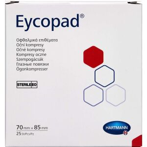 Køb Eycopad Øjenforbinding 70 x 85 mm 25 stk. online hos apotekeren.dk