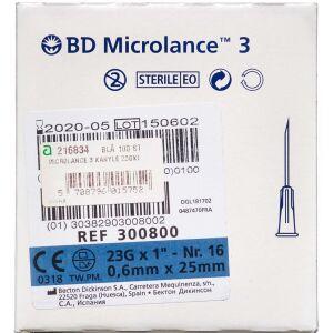 Køb Microlance 3 kanyle 23Gx1Blå 100 stk. online hos apotekeren.dk