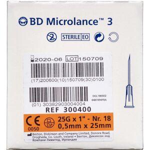"""Køb Microlance 3 Kanyler 25G1"""" Organge 100 stk. online hos apotekeren.dk"""