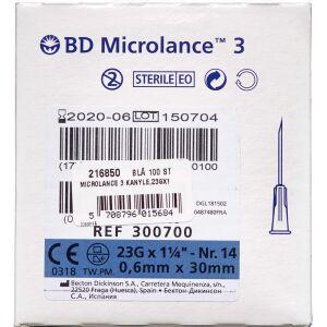 Køb Microlancet 3 Kanyle 23Gx 1 1/4 Blå 100 stk. online hos apotekeren.dk