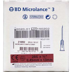 "Køb Microlance 3 Kanyle 26G1/2"" Brun 100 stk. online hos apotekeren.dk"