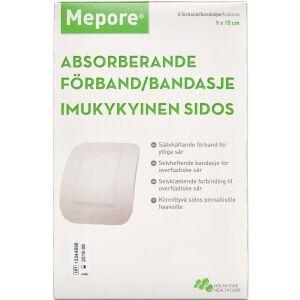 Køb Mepore selvklæbende forbinding 9x15cm 5 stk. online hos apotekeren.dk
