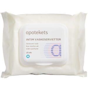 Køb Apotekets intim vaskeserviet 15 stk. online hos apotekeren.dk