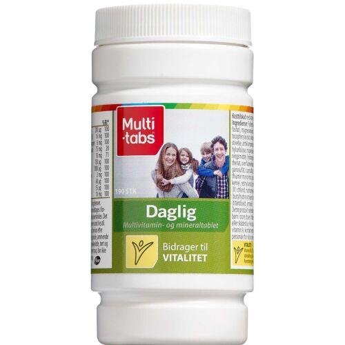 Køb Multi-tabs Daglig kosttilskud tabletter 190 stk. online hos apotekeren.dk