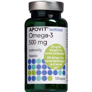Køb Apovit Omega-3 500 mg 120 stk. online hos apotekeren.dk